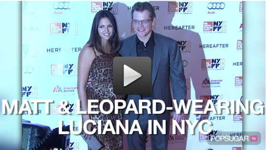 Video of Matt Damon and Pregnant Wife Luciana Damon at the New York Film Festival