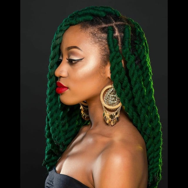 Terrific Black Braided Hairstyles With Extensions Popsugar Beauty Short Hairstyles For Black Women Fulllsitofus
