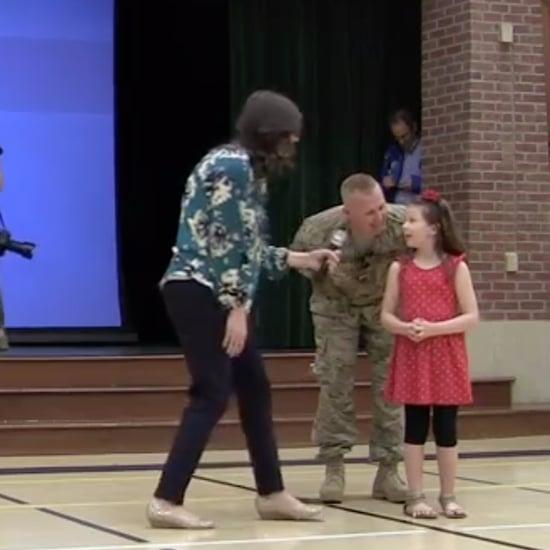 Military Dad Surprises His Daughter at School