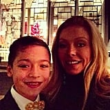 Kelly Ripa took Joaquin Consuelos to the New York City Ballet's annual performance of The Nutcracker. Source: Twitter user KellyRipa