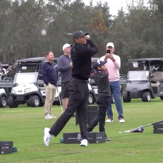 Watch Tiger Woods and Son Charlie Play Golf Together