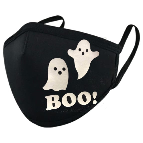 Glow in the Dark Ghost Boo Halloween Mask
