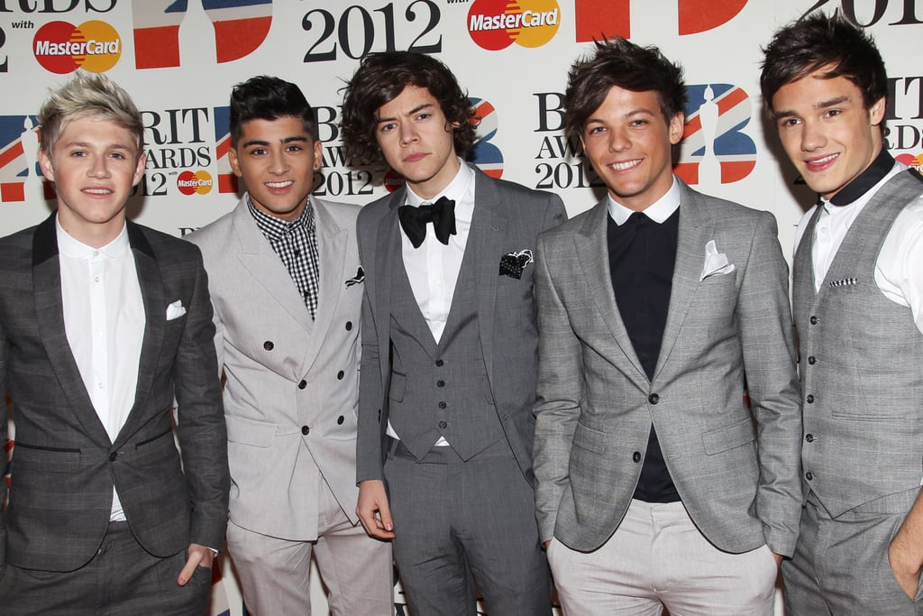 One Direction at the Brit Awards in 2012