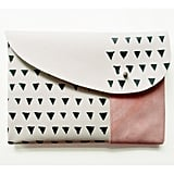 I just love this funky leather clutch ($50). It's neutral with some flair. — Tara Block, assistant editor
