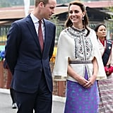 Kate has nothing but love in her eyes for Will during their visit to Bhutan in April 2016.