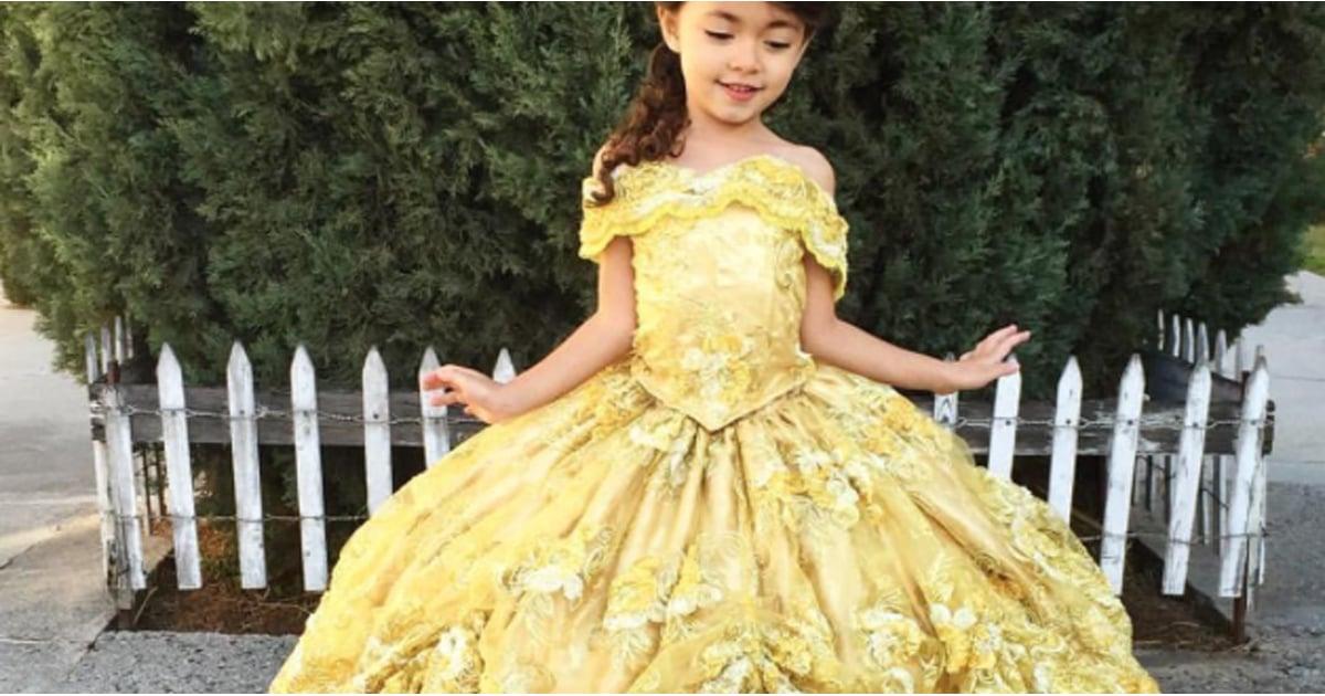 Dad Designs Disney Dresses For Daughter