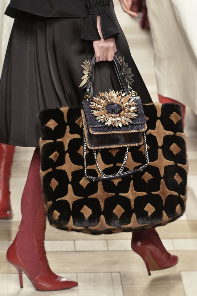 At Fendi, the Run Away double-handle tote bag was debuted.