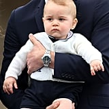 Prince George at Wellington Airport in Wellington, New Zealand, in April 2014