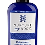 Nurture My Body Baby Organic Sunscreen, SPF 32