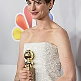 Anne Hathaway was in a good mood.