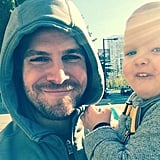 He and his little one took an early-morning walk in September 2015.