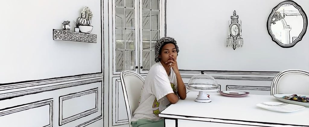 Teyana Taylor's Trippy Black and White Dining Room | Photos