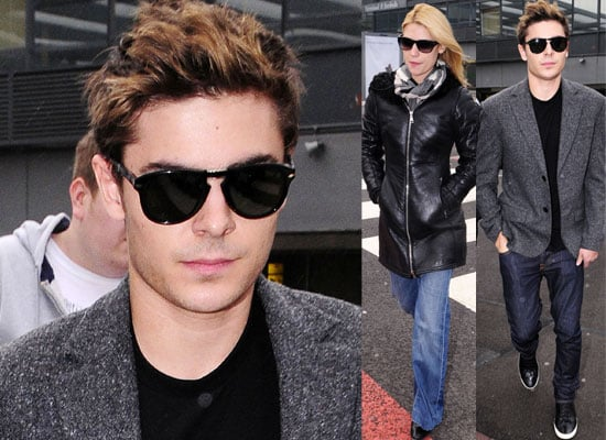 Photos of Zac Efron and Claire Danes at Heathrow Airport as they Arrive in London, UK To Promote Me and Orson Welles