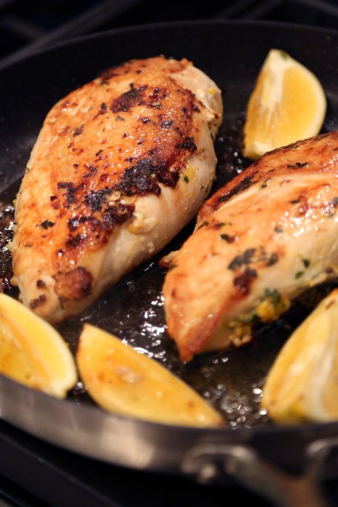 Chrissy Teigen Recipe: John's Tuscan Brick Chicken With Charred Lemons