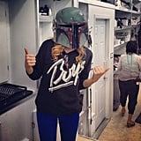 "Chloe Moretz showed off her ""next red-carpet look."" Source: Instagram user cmoretz"