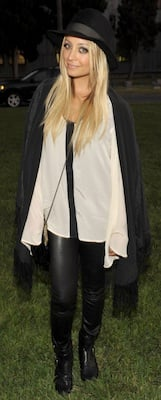Nicole Richie in Winter Kate Robe Jacket