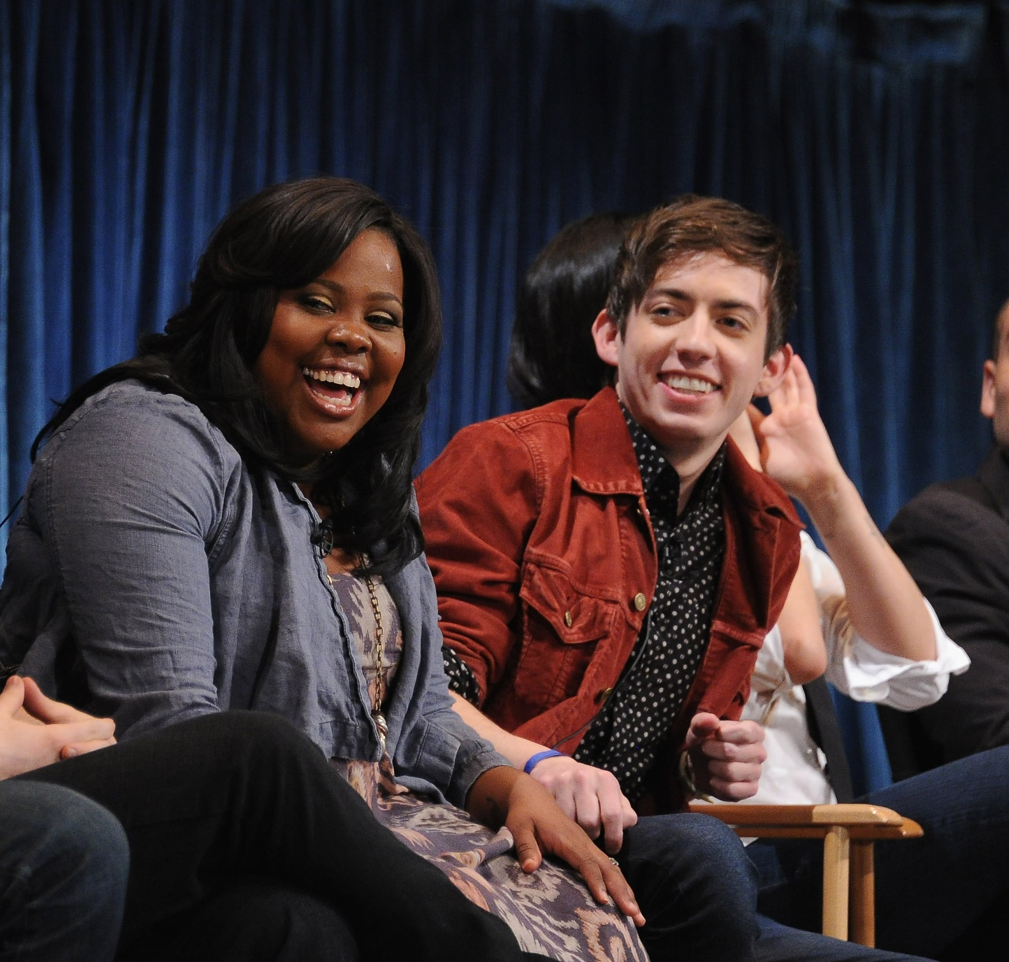 Amber Riley and Kevin McHale