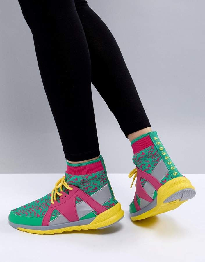 ASOS Multi Sneaker With Sock Detail