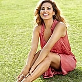 """On her fashion line, the Eva Mendes Collection at New York & Company: """"There are diverse body types in my family. One of my sisters is very voluptuous; the other one is skinny. It was really important to me to create a clothing line that embraces all those differences."""""""