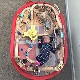 Baby vs. Radiator Springs.