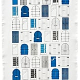 Get lost in a sea of doors with this tea towel ($19).