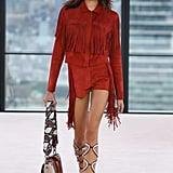 Kaia Walking in Longchamp