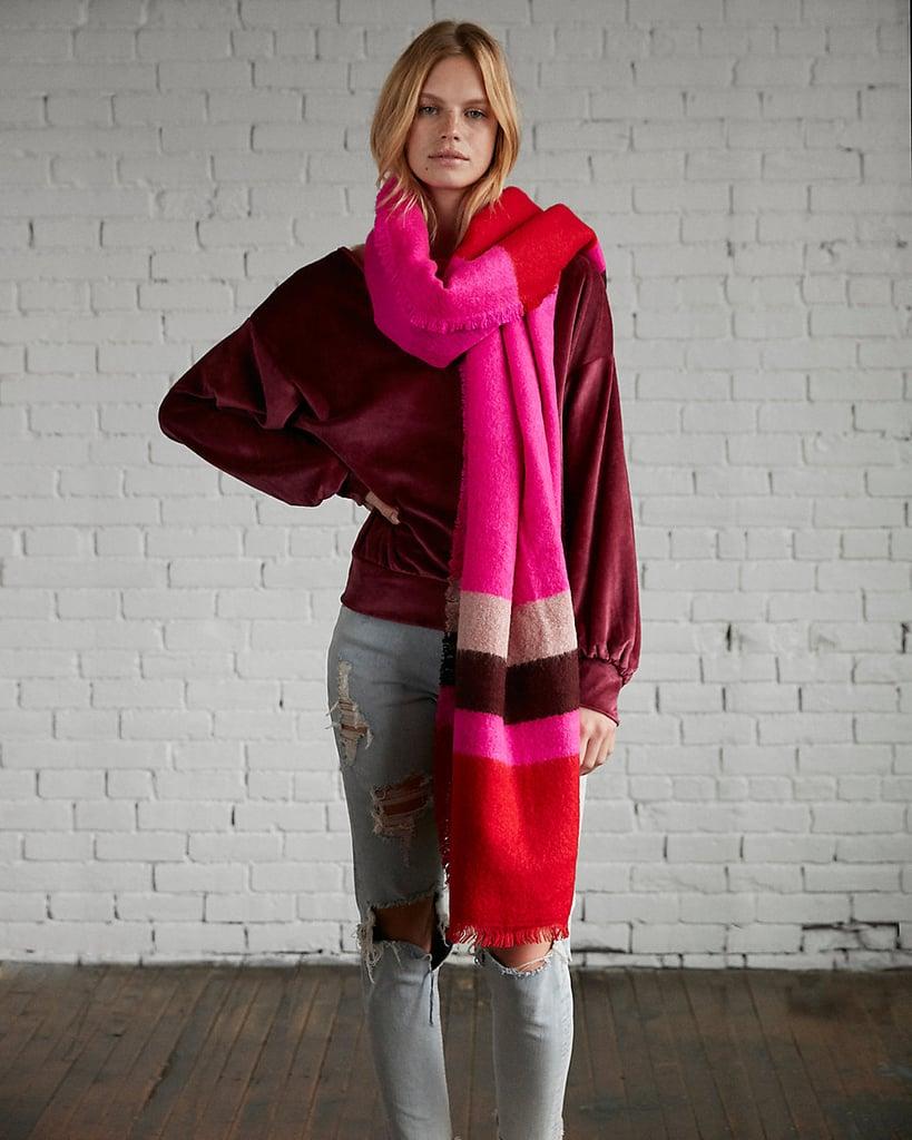 Express Stripe Blanket Scarf