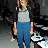 Rashida Jones went cute and comfy for the Rodarte show on Tuesday.
