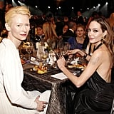 Angelina Jolie and Tilda Swinton were seated together.