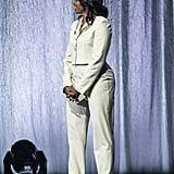 Michelle Obama Green Pastel Suit 2019