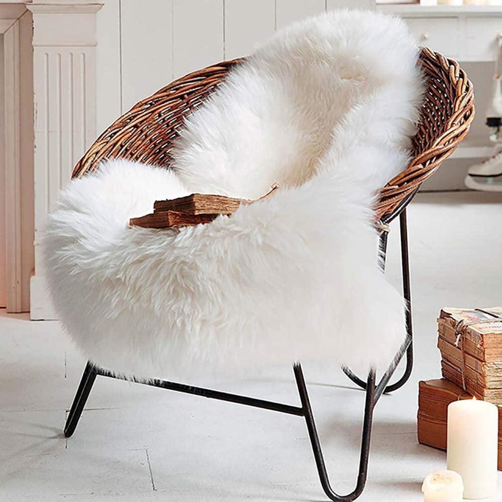 Lochas Super Soft Fluffy Faux Sheepskin Rug