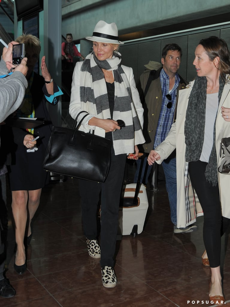Cameron Diaz was greeted by fans.