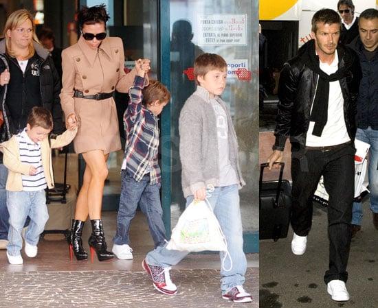 Photos of David Beckham, Victoria Beckham, Brooklyn Beckham, Cruz Beckham, Romeo Beckham in Rome