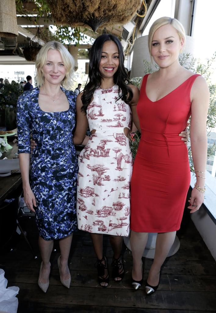 Naomi Watts, Zoe Saldana, and Abbie Cornish were on hand at the 25 Most Powerful Stylists Luncheon in LA on Wednesday.