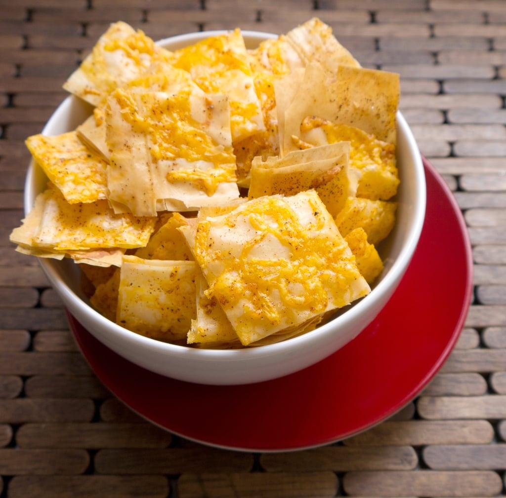 Cheesy Phyllo Crackers