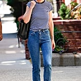 Style Your T-Shirt With: Jeans and Flats