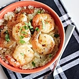 Garlic Lemon Shrimp and Cauliflower Grits