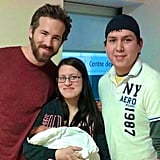 Ryan Reynolds spent Oscars Sunday at a hospital visiting sick children.  Source: Facebook user Blake and Ryan Reynolds
