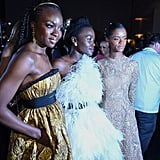 Pictured: Danai Gurira, Lupita Nyong'o, and Letitia Wright