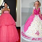 Rihanna totally looked like one of those fancy princess-gown birthday cakes.