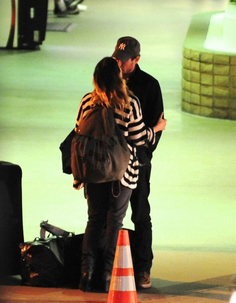 Drew Barrymore Shows Love For Her New Guy Upon Landing in LA