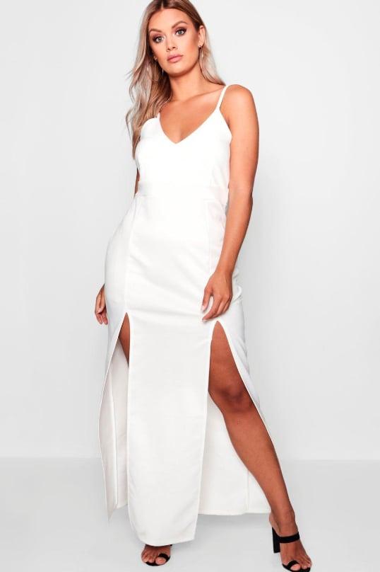 a4527e9b55cc Boohoo Hollie Plunge Strappy Maxi Dress | Elizabeth Hurley's ...