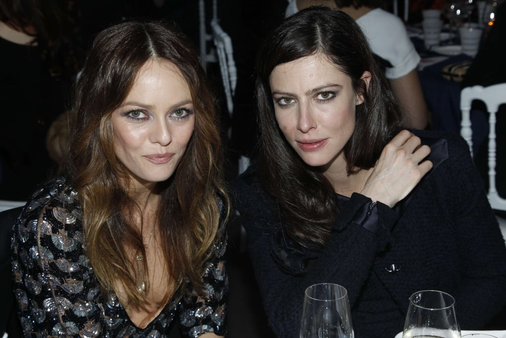 Vanessa Paradis and Anna Mouglalis attended the Sidaction Gala Dinner 2012 at Pavillon d'Armenonville.