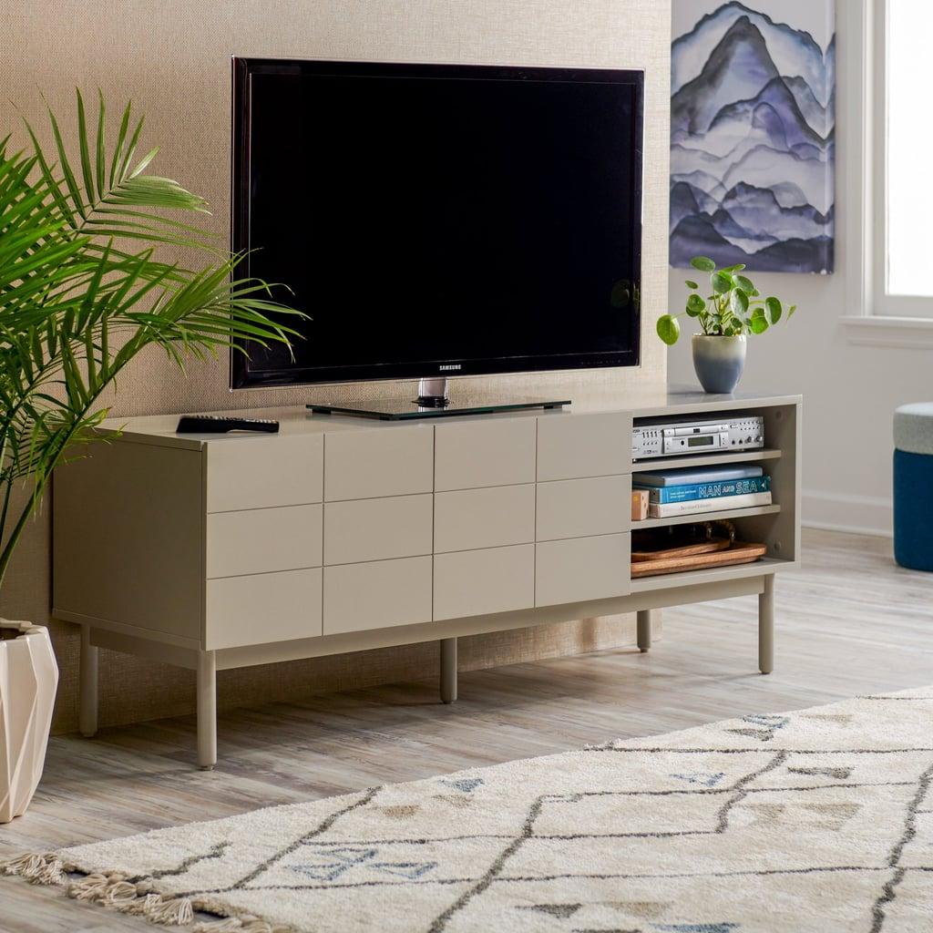 MoDRN Scandinavian Link Two Door TV Stand