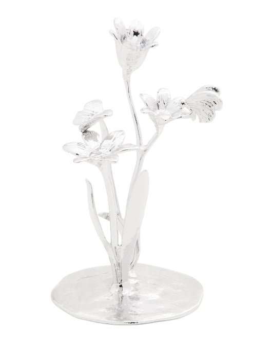 Floral Butterfly Jewelry Holder