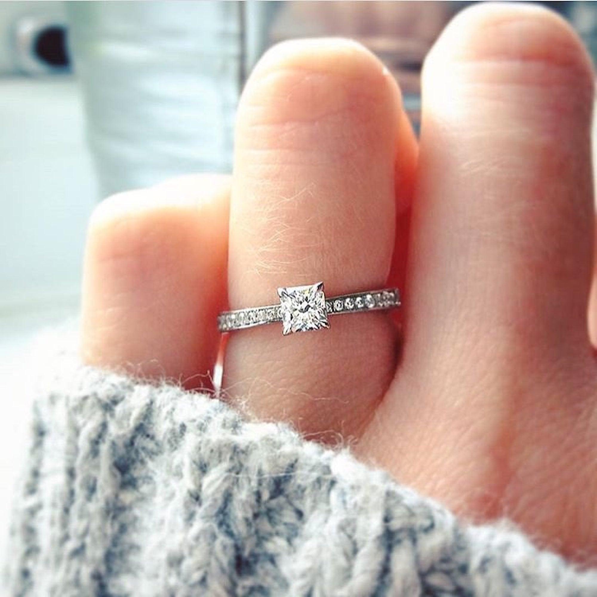 Minimalist Engagement Rings Popsugar Love Sex