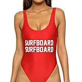 "Private Party ""Surfboard Surfboard"" One-Piece Bathing Suit ($99)"