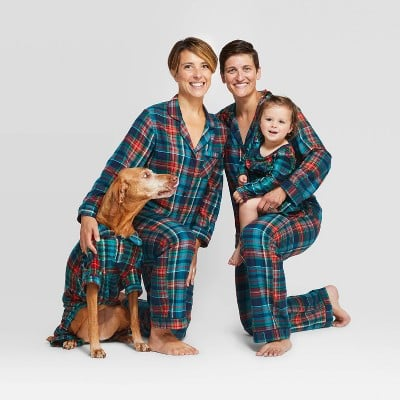 Holiday Blue Tartan Plaid Flannel Family Pajamas Collection