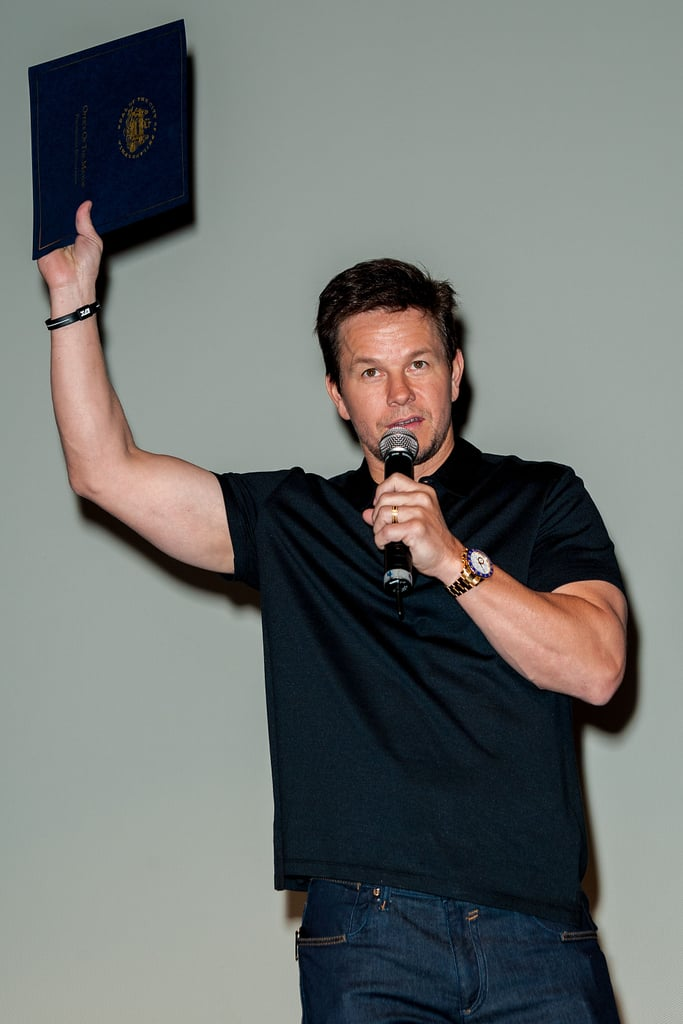 Mark Wahlberg brought his Broken City to Philadelphia.