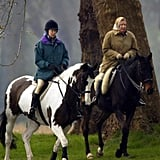 Queen Elizabeth II and Princess Anne in 2002
